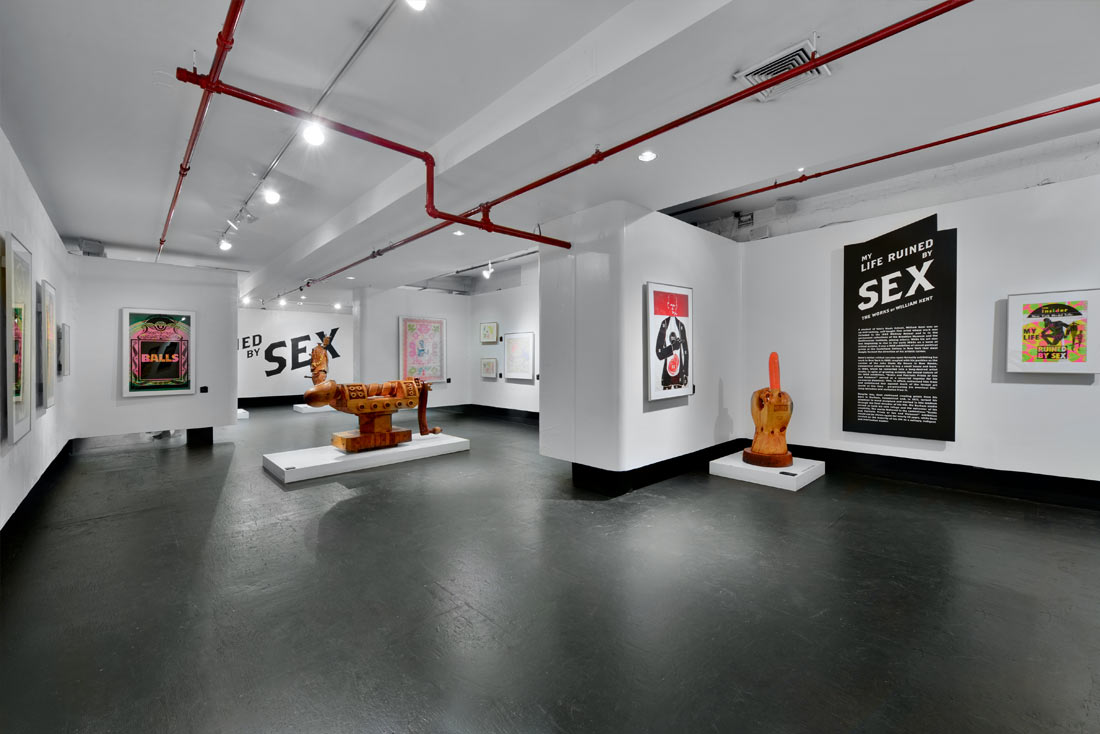 "A view of Gallery 3A, here where ""My Life Ruined by Sex: The Works of William Kent"" was exhibited."
